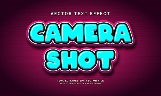 Bearbeitbarer texteffekt der kamera mit fotomotiv