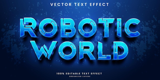 Bearbeitbarer texteffekt der roboterwelt