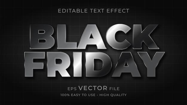 Bearbeitbarer texteffekt der typografie des schwarzen freitags