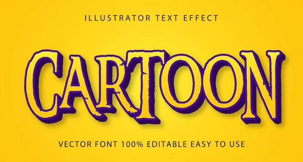Bearbeitbarer texteffekt des cartoons