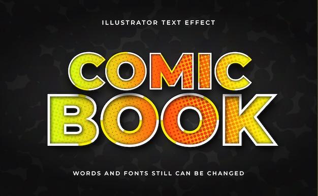 Bearbeitbarer texteffekt des comics