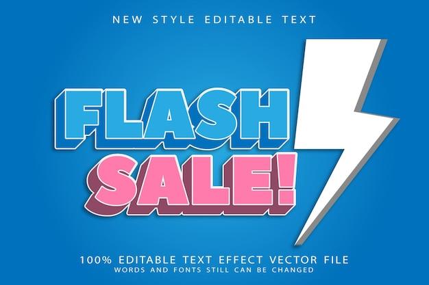Bearbeitbarer texteffekt des flash-verkaufs prägen modernen stil
