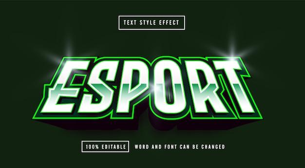 Bearbeitbarer texteffekt des grünen esport-gaming-logos