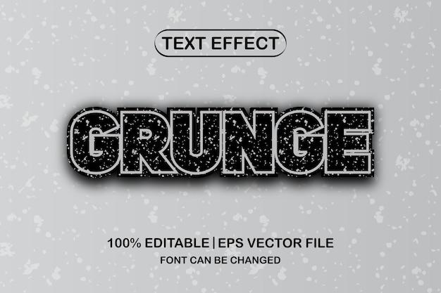 Bearbeitbarer texteffekt des grunge 3d