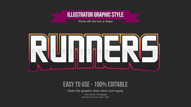 Bearbeitbarer texteffekt des modernen 3d-gaming-logos