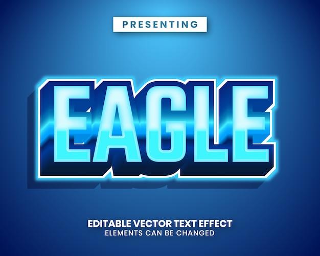 Bearbeitbarer texteffekt des modernen trendigen stils 3d