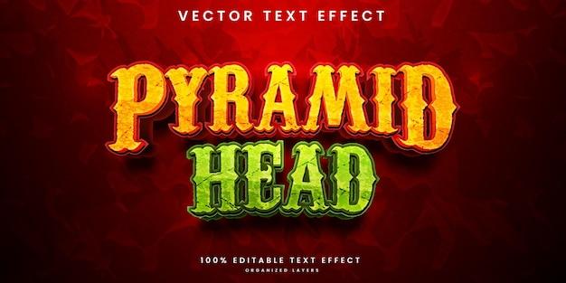 Bearbeitbarer texteffekt des pyramidenkopfes