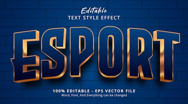 Bearbeitbarer texteffekt, e sport-text auf logo-gaming-stil-effekt