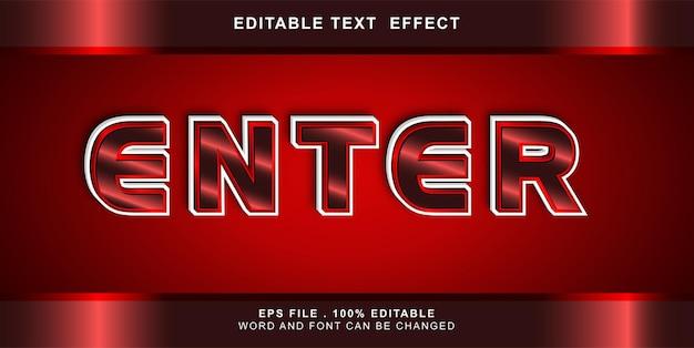 Bearbeitbarer texteffekt eingeben