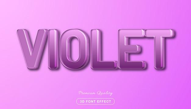 Bearbeitbarer texteffekt, eleganter violetter stil