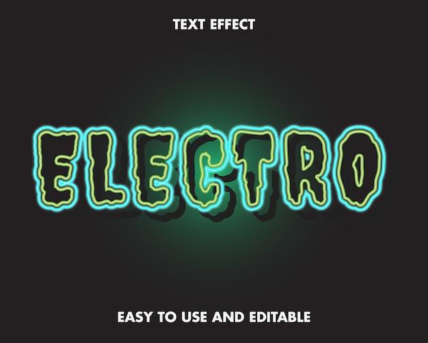 Bearbeitbarer texteffekt - elektrowort. einfach zu bedienen und bearbeitbar.