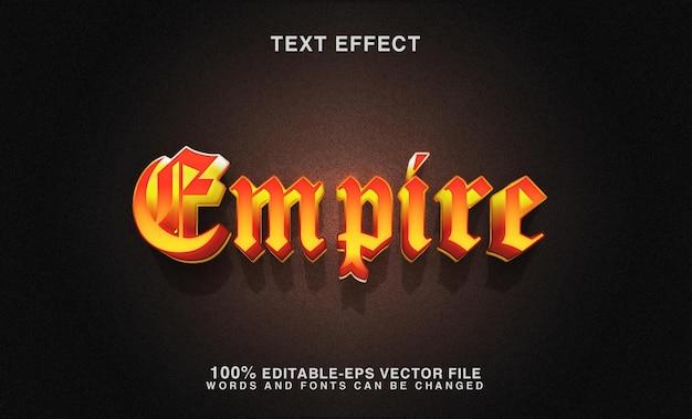 Bearbeitbarer texteffekt - empire-stil Premium Vektoren