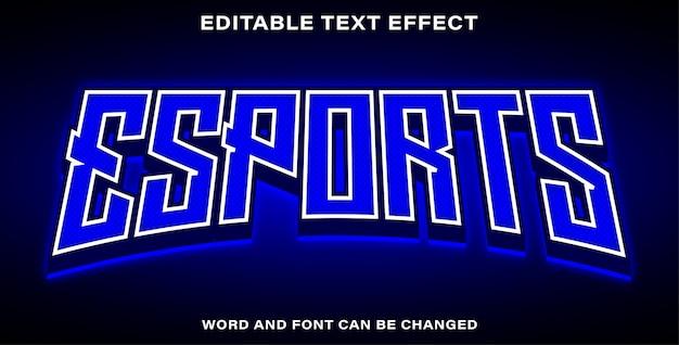 Bearbeitbarer texteffekt-esport