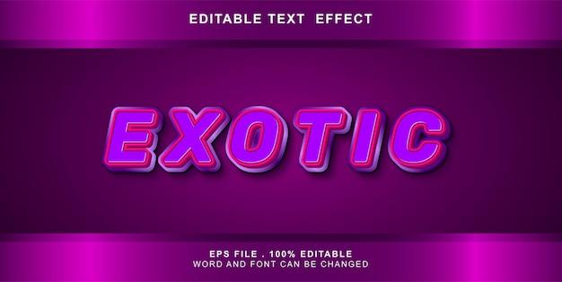 Bearbeitbarer texteffekt exotisch