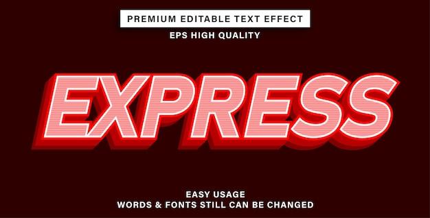 Bearbeitbarer texteffekt express