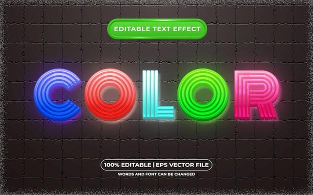 Bearbeitbarer texteffekt-farbvorlagenstil