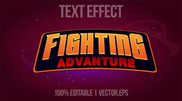 Bearbeitbarer texteffekt - fighting advanture-logo-stil