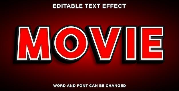 Bearbeitbarer texteffekt - film