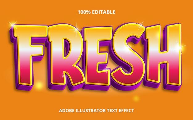 Bearbeitbarer texteffekt - frischer titelstil