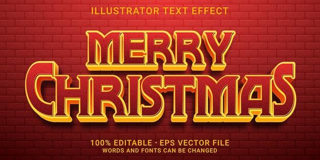 Bearbeitbarer texteffekt frohe weihnachten stil