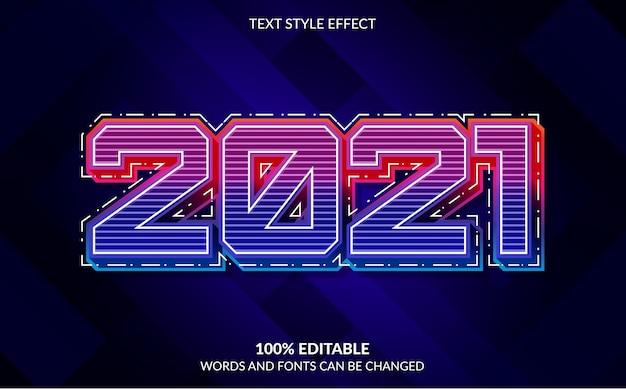 Bearbeitbarer texteffekt frohes neues jahr mit abstraktem hintergrund