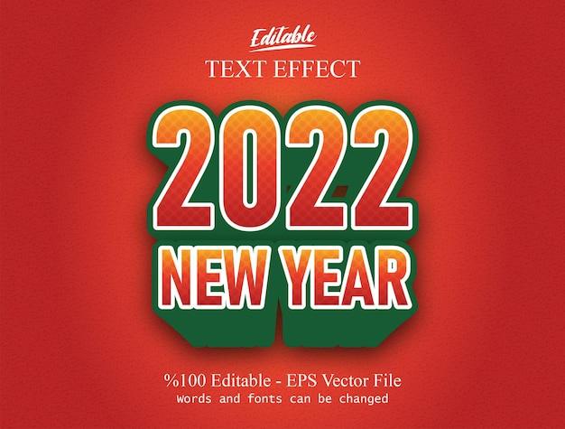 Bearbeitbarer texteffekt für das neue jahr 2022