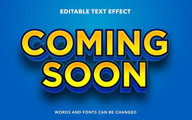 Bearbeitbarer texteffekt für den baldigen textstil