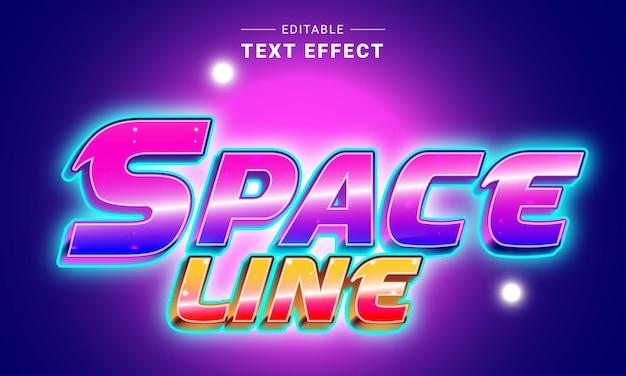 Bearbeitbarer texteffekt für illustrator