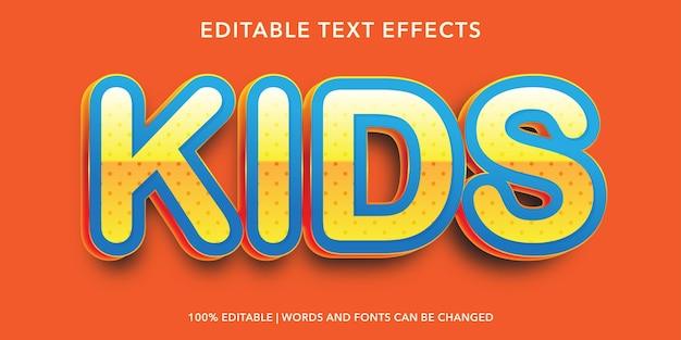 Bearbeitbarer texteffekt für kinder