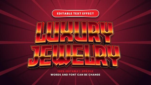 Bearbeitbarer texteffekt für luxusschmuck im modernen 3d-stil