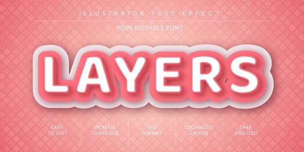 Bearbeitbarer texteffekt für papierschichten