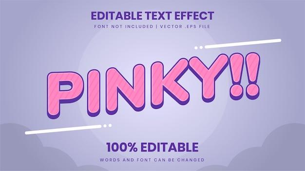 Bearbeitbarer texteffekt für pinky