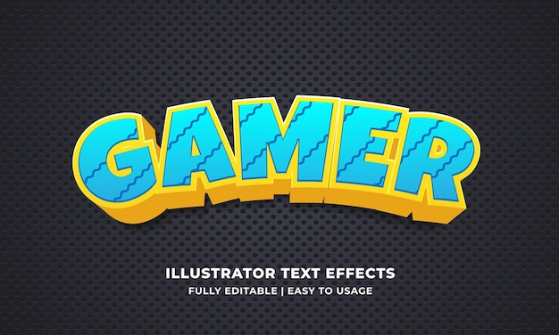 Bearbeitbarer texteffekt für spieler