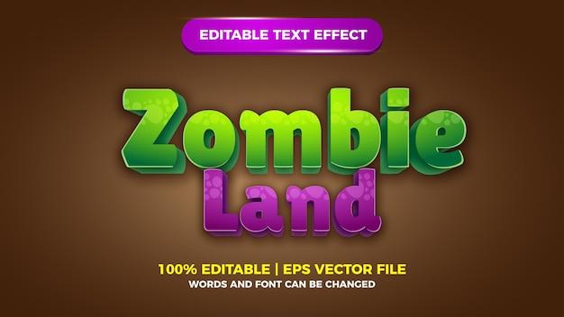Bearbeitbarer texteffekt für zombie land-comics