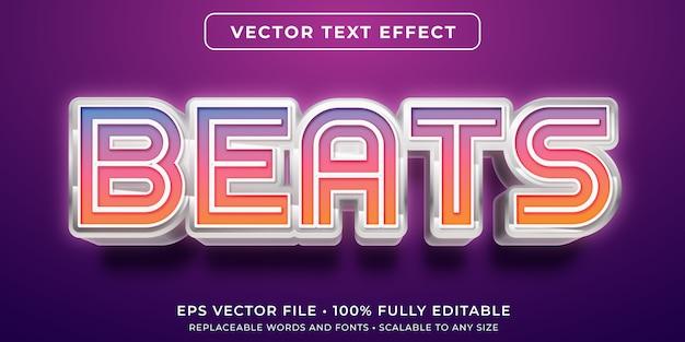 Bearbeitbarer texteffekt - futuristischer techno schlägt stil