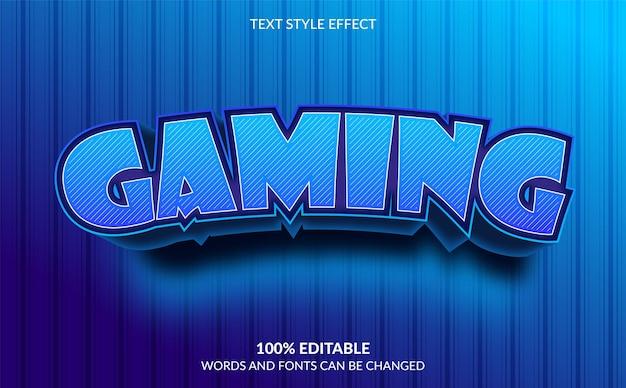 Bearbeitbarer texteffekt gaming-textstil