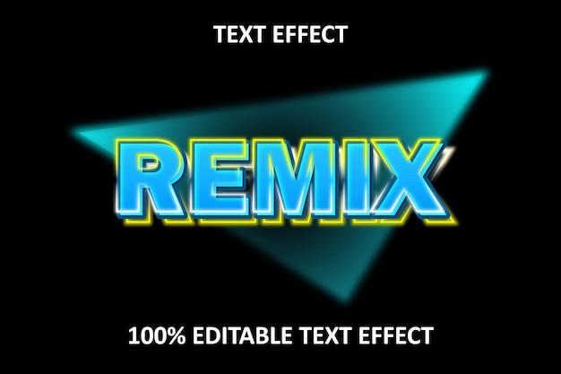 Bearbeitbarer texteffekt gelbes blaues licht
