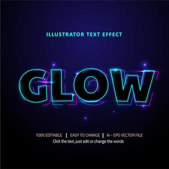 Bearbeitbarer texteffekt glow-titel