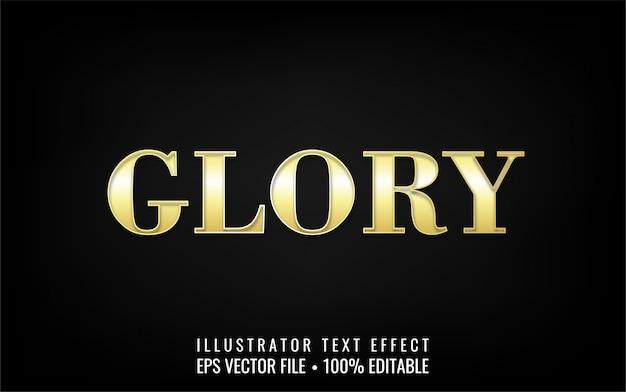 Bearbeitbarer texteffekt - gold glory text style