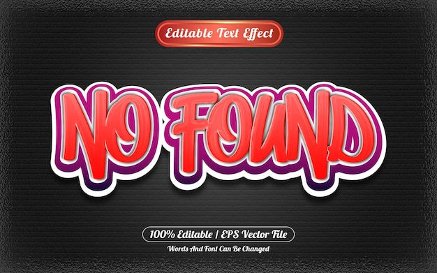 Bearbeitbarer texteffekt-graffiti-stil nicht gefunden