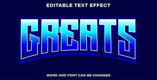 Bearbeitbarer texteffekt - größen