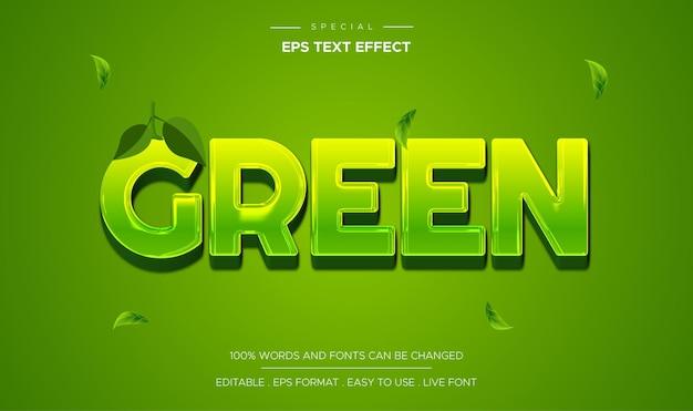 Bearbeitbarer texteffekt grüner stil