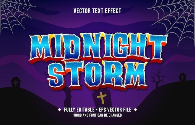 Bearbeitbarer texteffekt gruseliger halloween-event-themenstil für digitale und gedruckte medienvorlagen