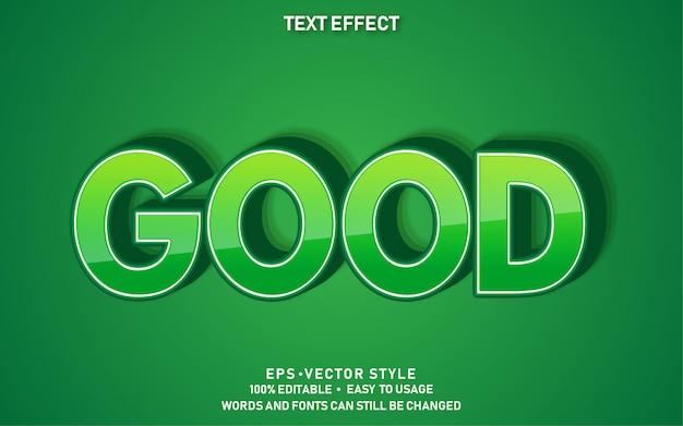 Bearbeitbarer texteffekt gut grün