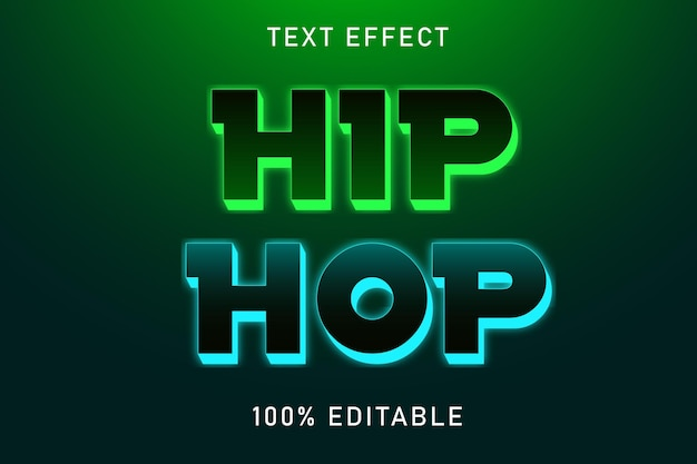 Bearbeitbarer texteffekt hip hop