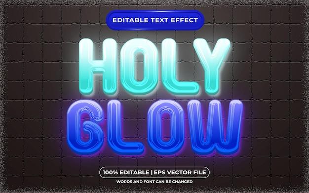 Bearbeitbarer texteffekt holy glow style