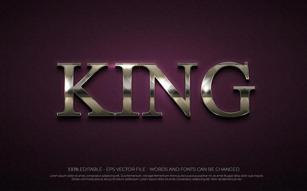 Bearbeitbarer texteffekt illustrationen im king-stil