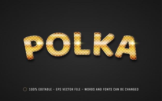 Bearbeitbarer texteffekt, illustrationen im polka-stil