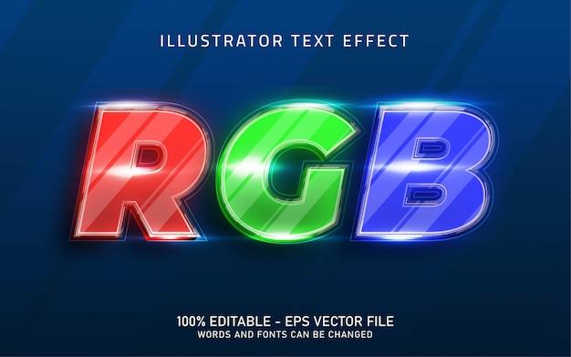 Bearbeitbarer texteffekt, illustrationen im rgb-stil