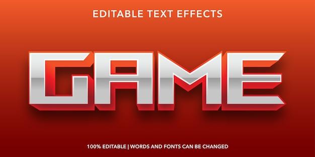 Bearbeitbarer texteffekt im 3d-stil des spiels